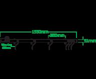 Socapex 4-bar Svart färdigmont 2-vägs grenkontakter