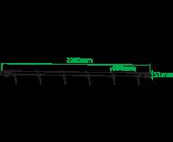 Socapex 6-bar Silver färdigmont 2-vägs grenkontakter