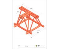 M520 Fold 3-way tee piece