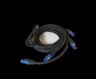 Socapex Powerconpiska. Socahane - 6st Powercon Blå