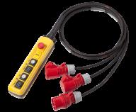 MCPH2 Handhållen Kontroller 2xDV hoist, in CEE16/5p, out: 2xCEE16/4p